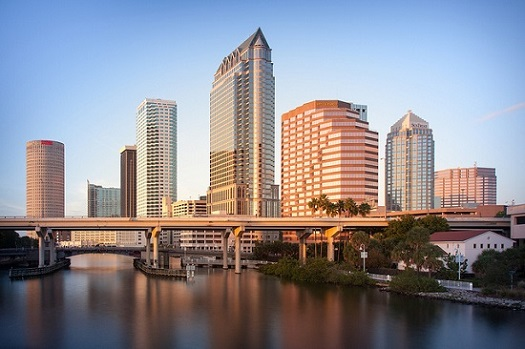 Tampa skyline in Florida